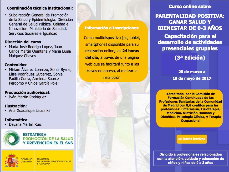 Cursos Online Gratuitos Del Programa De Parentalidad Positiva Del Msssi