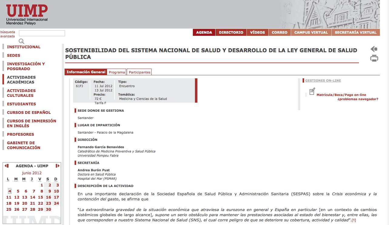 Encuentro Sostenibilidad SNS y Desarrollo LGSP